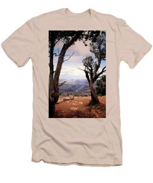 Grand Canyon, Az Men's T-Shirt (Slim Fit) by James Bethanis