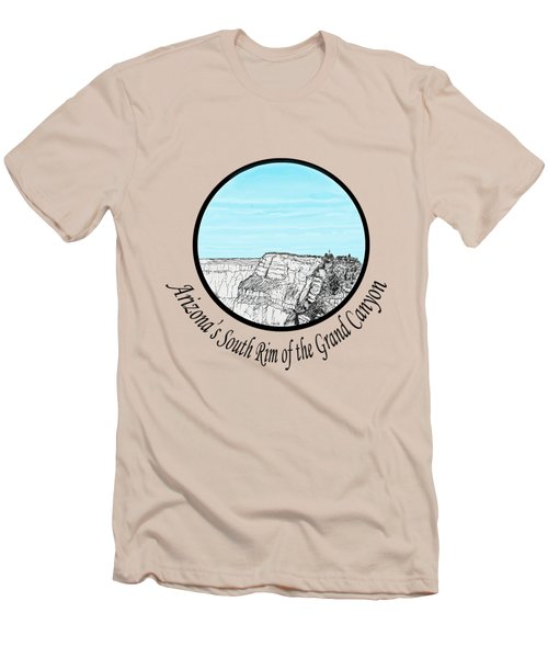 Grand Canyon - South Rim Men's T-Shirt (Slim Fit) by James Lewis Hamilton