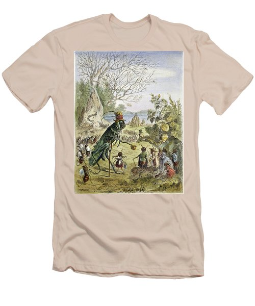 Grasshopper And Ant Men's T-Shirt (Slim Fit) by Granger