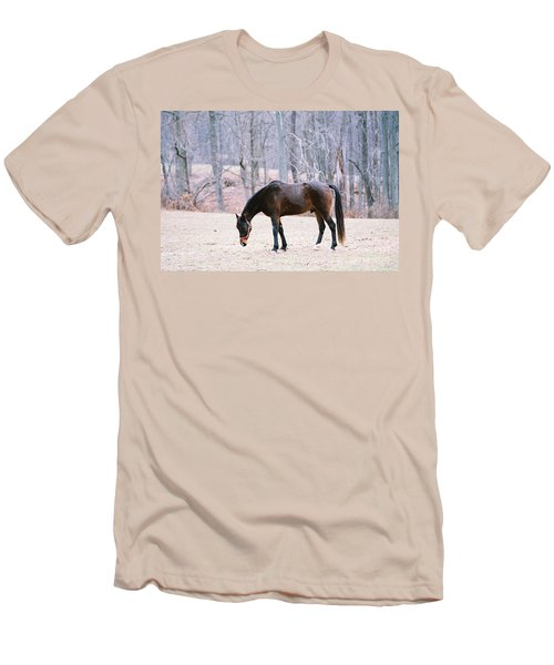 Men's T-Shirt (Slim Fit) featuring the photograph Grazing by Polly Peacock