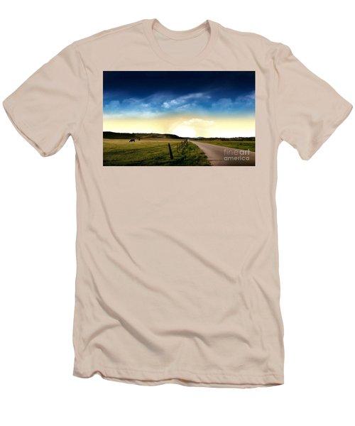 Grazing Time Men's T-Shirt (Slim Fit) by Rod Jellison