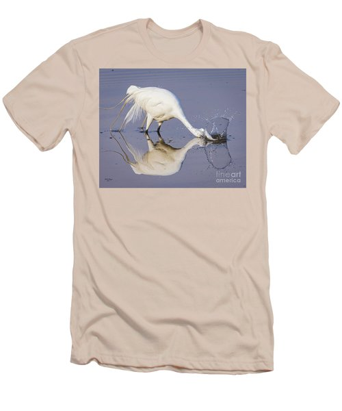 Great Egret Dipping For Food Men's T-Shirt (Athletic Fit)