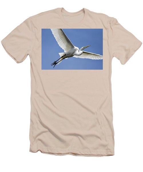 Great Egret Soaring Men's T-Shirt (Athletic Fit)