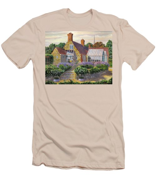 Great Houghton Cottage Men's T-Shirt (Slim Fit) by David Gilmore
