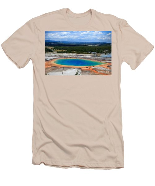 Great Prismatic Spring   Men's T-Shirt (Athletic Fit)