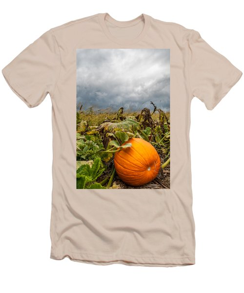 Great Pumpkin Off Center Men's T-Shirt (Athletic Fit)