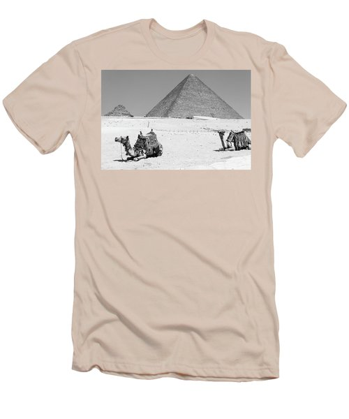 Men's T-Shirt (Athletic Fit) featuring the photograph great pyramids of Giza by Silvia Bruno