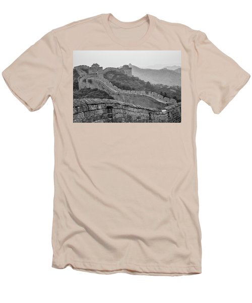 Men's T-Shirt (Slim Fit) featuring the photograph Great Wall 7, Jinshanling, 2016 by Hitendra SINKAR