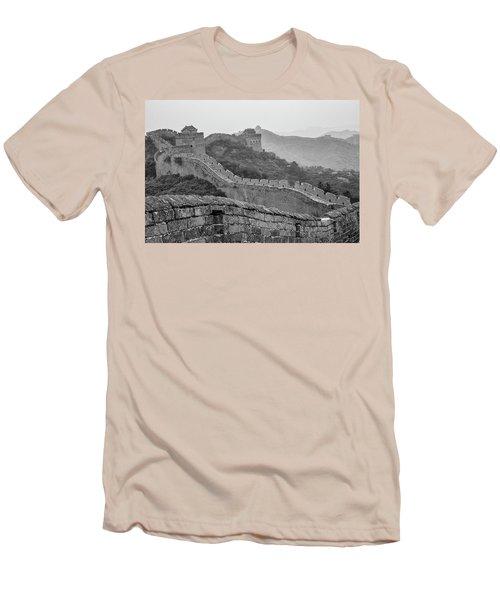 Great Wall 7, Jinshanling, 2016 Men's T-Shirt (Slim Fit) by Hitendra SINKAR
