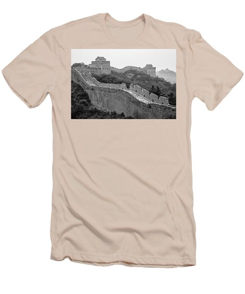 Men's T-Shirt (Slim Fit) featuring the photograph Great Wall 8, Jinshanling, 2016 by Hitendra SINKAR