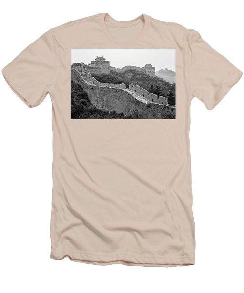 Great Wall 8, Jinshanling, 2016 Men's T-Shirt (Slim Fit) by Hitendra SINKAR