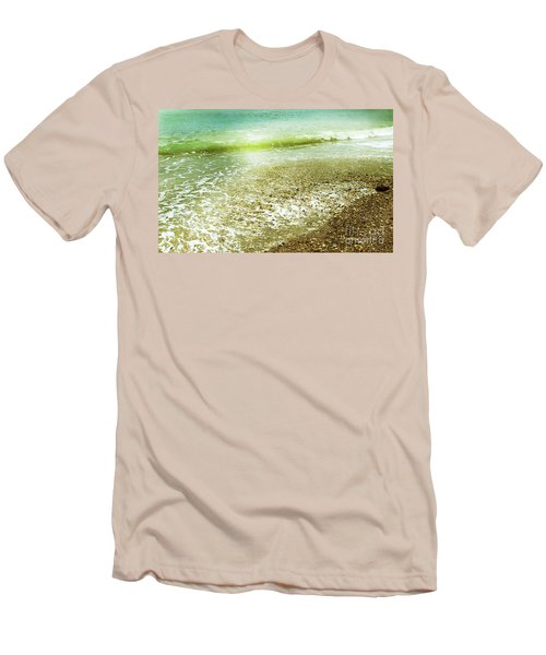 Green And Yellow Waves At Montana De Oro Beach In Spooners Cove Men's T-Shirt (Athletic Fit)