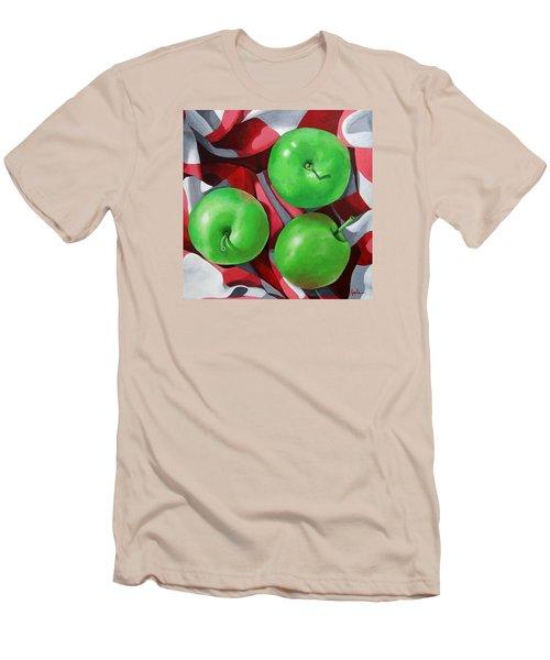 Green Apples Still Life Painting Men's T-Shirt (Athletic Fit)