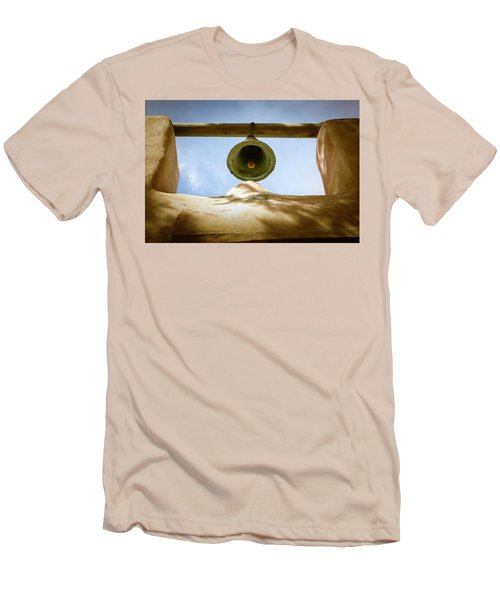 Men's T-Shirt (Slim Fit) featuring the photograph Green Church Bell by Marilyn Hunt