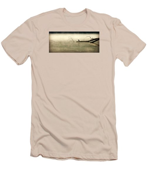 Green Heron In Dawn Mist Men's T-Shirt (Athletic Fit)