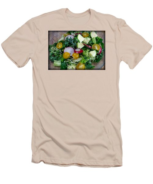 Men's T-Shirt (Slim Fit) featuring the photograph Green Salad by Adria Trail