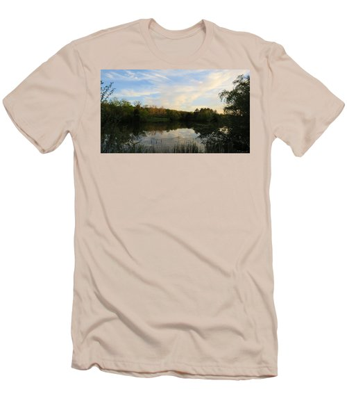 Greenfield Pond Men's T-Shirt (Slim Fit) by Kimberly Mackowski