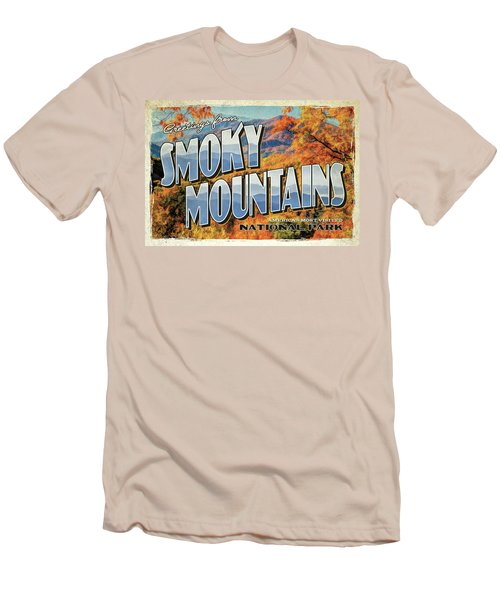 Greetings From Smoky Mountains National Park Men's T-Shirt (Athletic Fit)