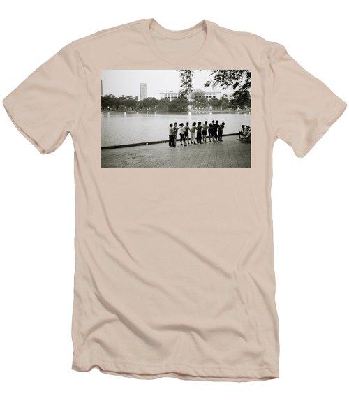 Group Massage Men's T-Shirt (Athletic Fit)
