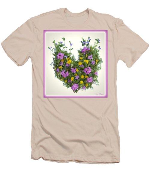 Men's T-Shirt (Slim Fit) featuring the digital art Growing Heart by Lise Winne