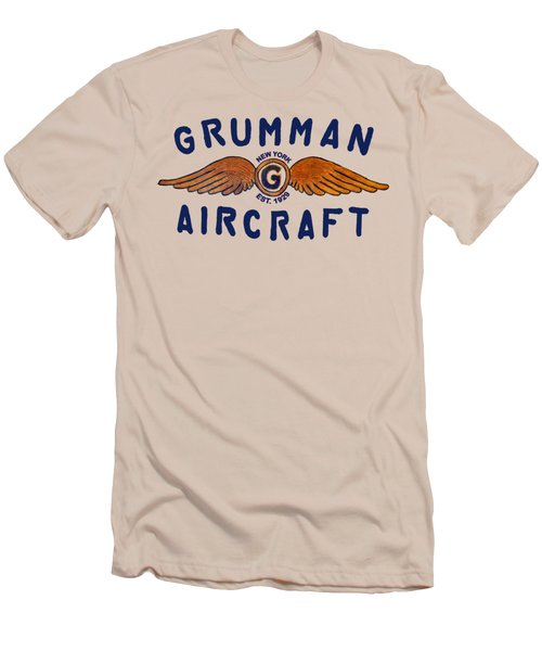Grumman Wings Blue Men's T-Shirt (Athletic Fit)