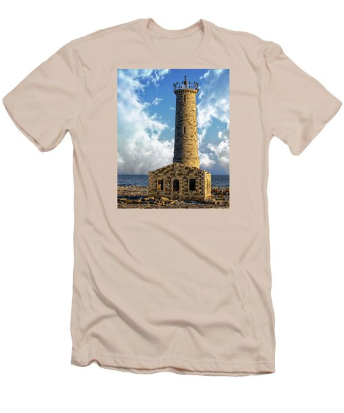 Gull Island Lighthouse Men's T-Shirt (Athletic Fit)