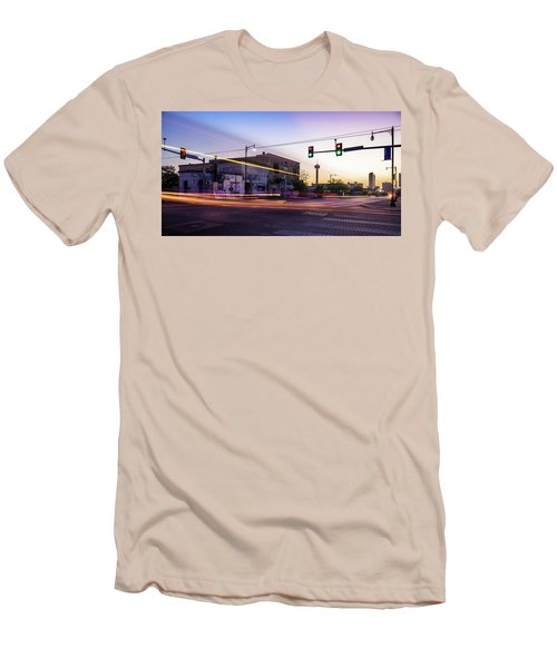 Hackberry And Commerce Men's T-Shirt (Slim Fit) by Micah Goff