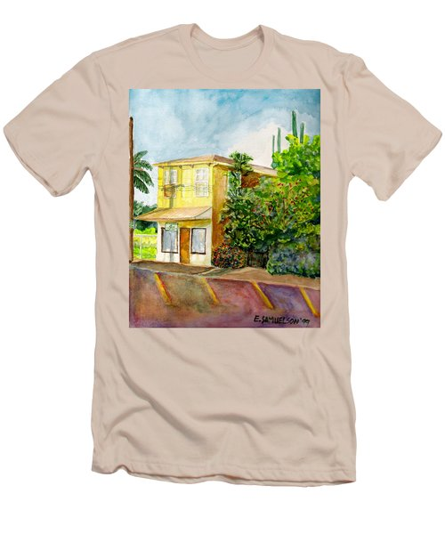 Men's T-Shirt (Slim Fit) featuring the painting Hairbenders Of Paia by Eric Samuelson