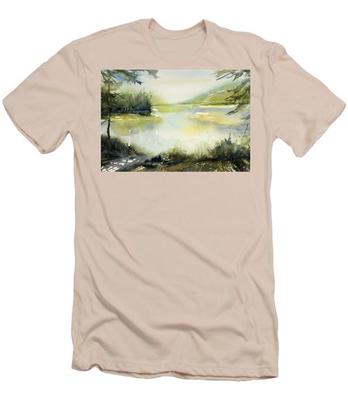 Half Moon Pond Men's T-Shirt (Athletic Fit)