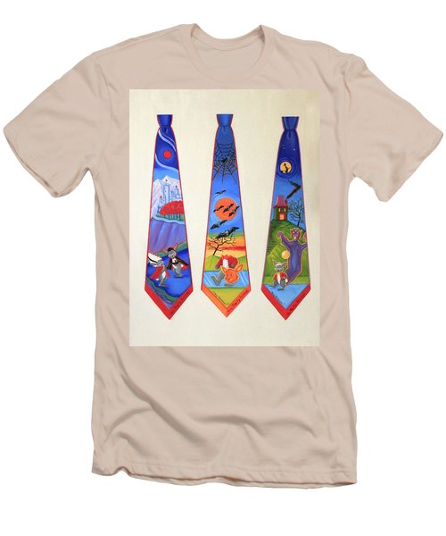 Halloween Ties Men's T-Shirt (Slim Fit) by Tracy Dennison