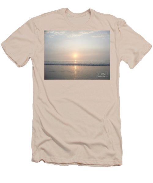 Hampton Beach Sunrise Men's T-Shirt (Slim Fit) by Eunice Miller