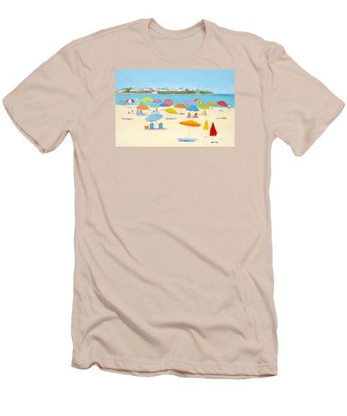 Hampton Beach Umbrellas Men's T-Shirt (Slim Fit) by Jan Matson