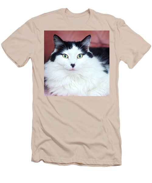 Men's T-Shirt (Slim Fit) featuring the photograph Handsome Tuxy by Byron Varvarigos