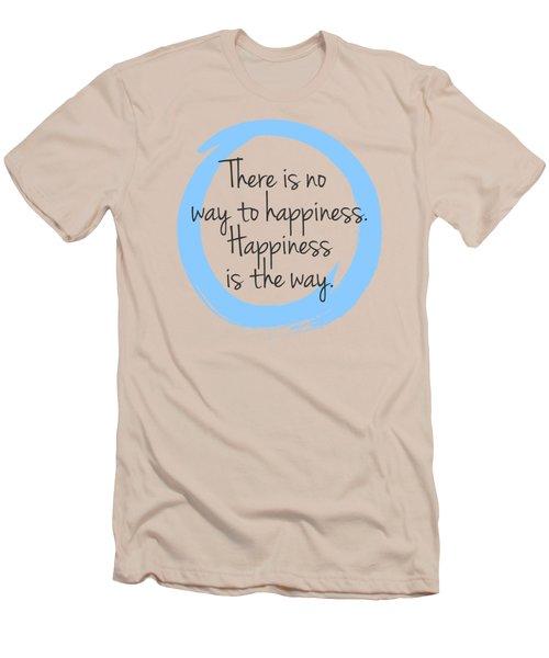 Happiness Men's T-Shirt (Slim Fit) by Julie Niemela