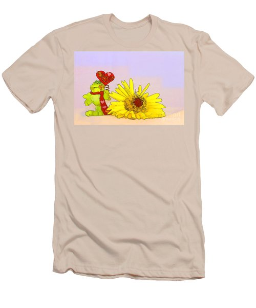 Men's T-Shirt (Slim Fit) featuring the photograph Happy Valentine's Day by Teresa Zieba