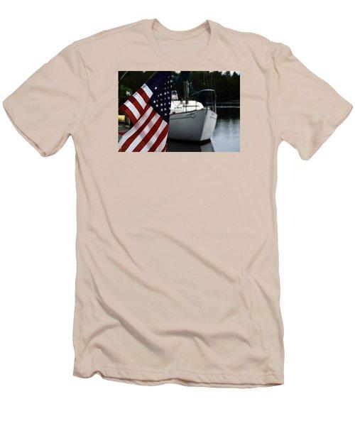 Harbor Men's T-Shirt (Slim Fit) by Allen Beilschmidt