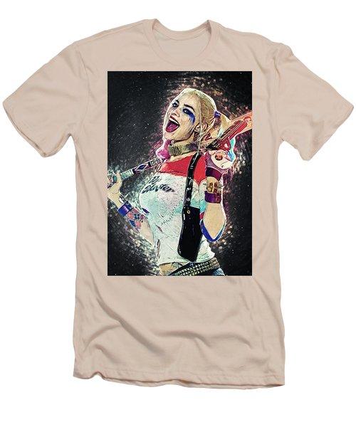 Harley Quinn Men's T-Shirt (Slim Fit) by Taylan Apukovska