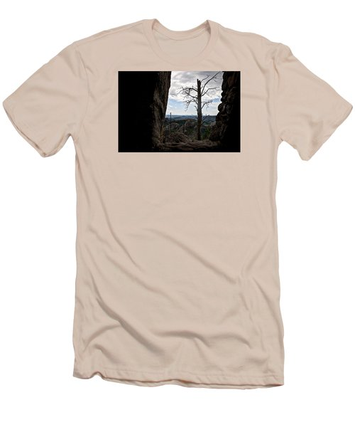 Men's T-Shirt (Slim Fit) featuring the photograph Harney Peak Lookout by Deborah Klubertanz