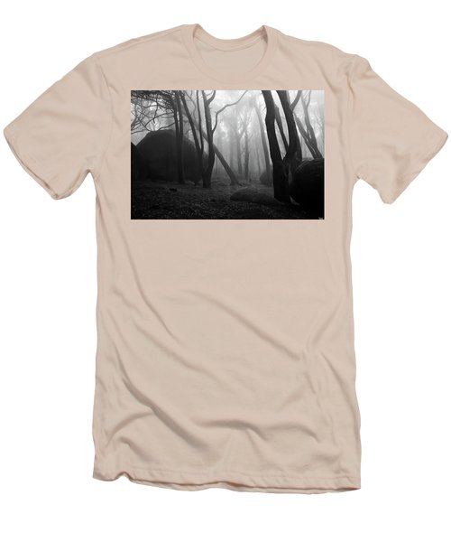 Haunted Woods Men's T-Shirt (Slim Fit) by Jorge Maia