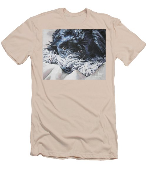 Havanese Black And White Men's T-Shirt (Slim Fit) by Lee Ann Shepard
