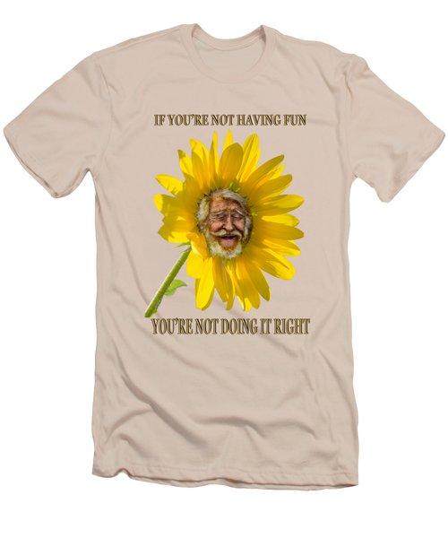 Having Fun Men's T-Shirt (Slim Fit) by Rick Mosher