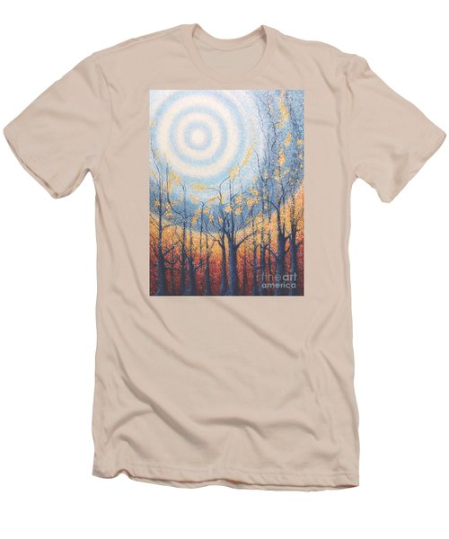 Men's T-Shirt (Slim Fit) featuring the painting He Lights The Way In The Darkness by Holly Carmichael