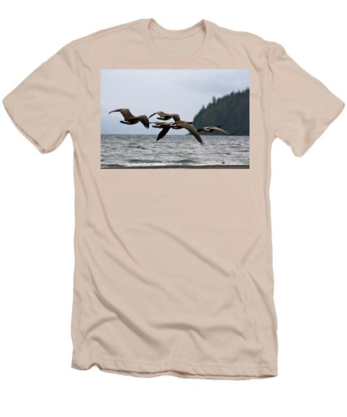 Men's T-Shirt (Slim Fit) featuring the photograph Heading South by Cathie Douglas