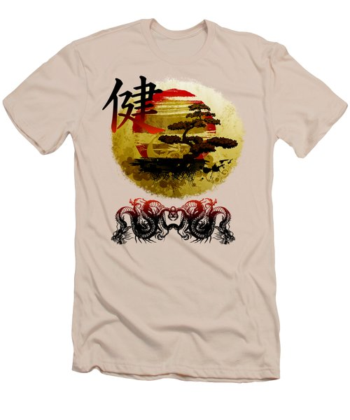 Men's T-Shirt (Slim Fit) featuring the photograph Health Oriental Symbol by Robert G Kernodle