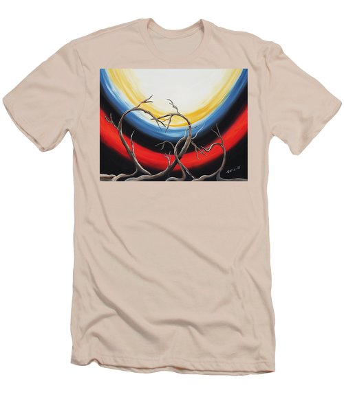 Men's T-Shirt (Slim Fit) featuring the painting Hearts by Edwin Alverio