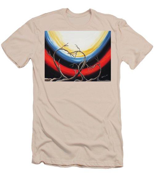 Hearts Men's T-Shirt (Slim Fit) by Edwin Alverio