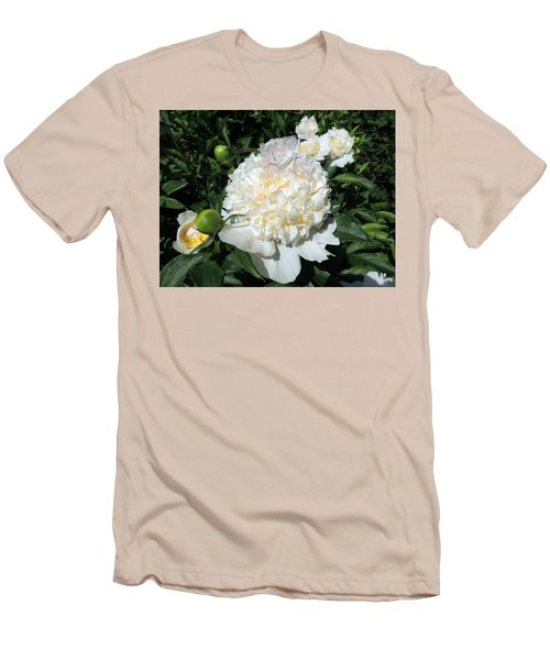 Men's T-Shirt (Slim Fit) featuring the photograph Heavenly White by Teresa Schomig