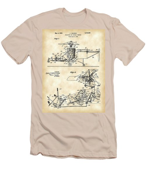 Helicopter Patent 1940 - Vintage Men's T-Shirt (Slim Fit) by Stephen Younts
