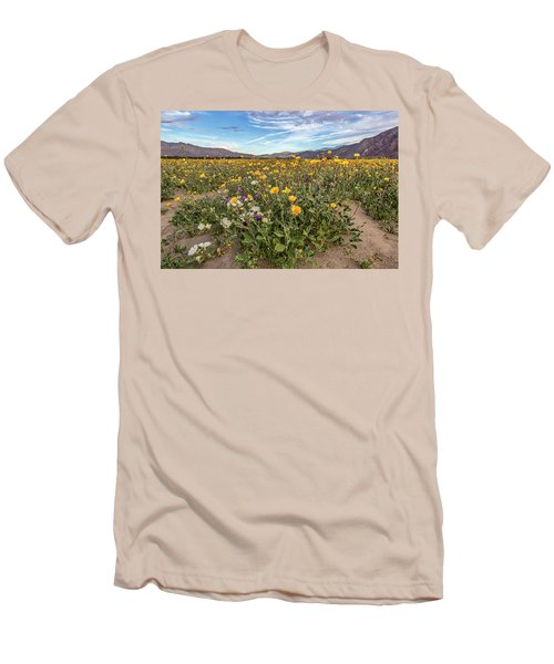 Men's T-Shirt (Slim Fit) featuring the photograph Henderson Canyon Super Bloom by Peter Tellone