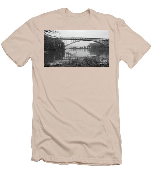 Henry Hudson Bridge  Men's T-Shirt (Slim Fit) by Cole Thompson